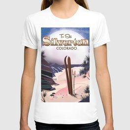 Silverton Colorado Ski poster T-shirt