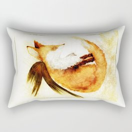 Winged Fox Sleeping Rectangular Pillow