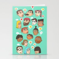 emoji Stationery Cards featuring emoji talk by Hugo Lucas