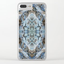 Southwestern Turquoise Pattern Clear iPhone Case