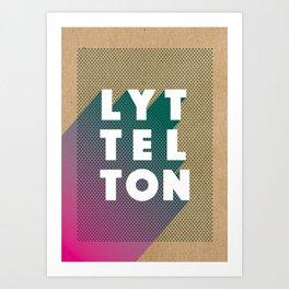 Lyttelton Dots Kraft Art Print