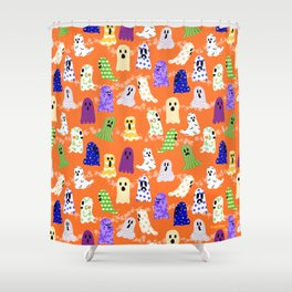 Ghosts In Designer Sheets Shower Curtain