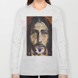 Christ with yellow eyes Long Sleeve T-shirt