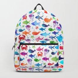 Rainbow Watercolor Under The Sea Marine Backpack