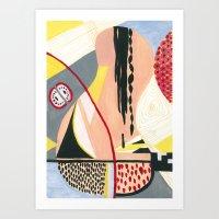fruits Art Prints featuring Fruits by Mariana Lisina
