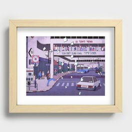 Dizengoff Center in the 90s Recessed Framed Print
