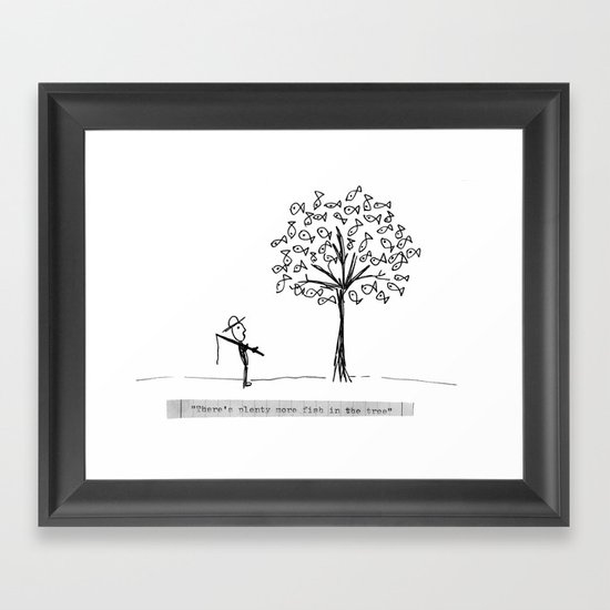 more fish in the tree Framed Art Print
