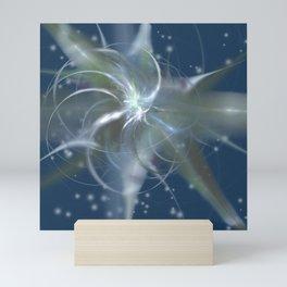 Snowstorm in Abstract Mini Art Print