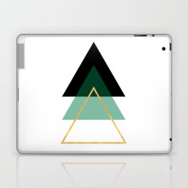 GEOMETRIC ABSTRACT HOLLOW PYRAMIDS TRIANGLE Laptop & iPad Skin