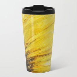 Big Yellow Daisy Metal Travel Mug