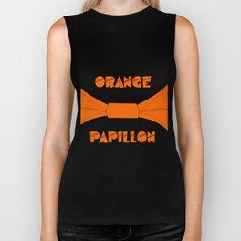 ORANGE PAPILLON Biker Tank