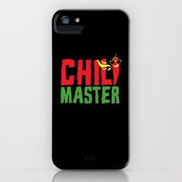 Chili Master Pepperoni Hot iPhone Case