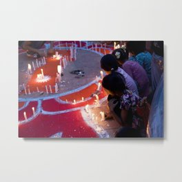 Protest by candelight Metal Print
