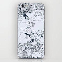 Ghibli-Inspired Collage iPhone Skin