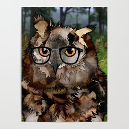 Owl's Good in the Woods Poster