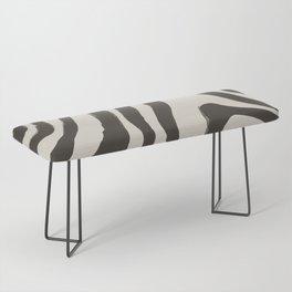 Painted Zebra Bench