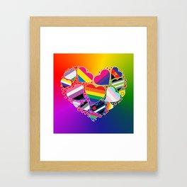 LGBTQA+ Community Pride Heart Framed Art Print