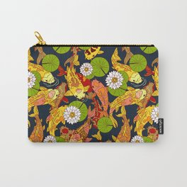 Bright Koi Carry-All Pouch