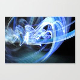 (Mostly) Blue Light Painting Canvas Print