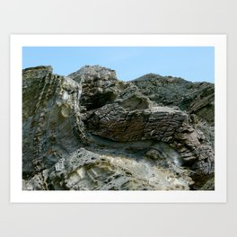 Beavertail Folds Art Print