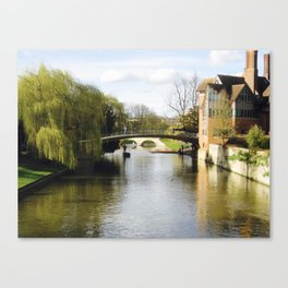 Cambridge Canal Canvas Print