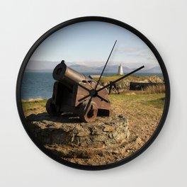 Cannon On Llanddwyn Island Wall Clock