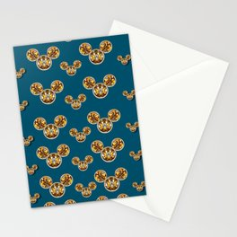 Cartoon animals in gold and silver gift decorations Stationery Cards