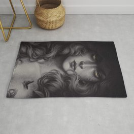 Black Butterfly Rug