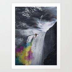 Rainbow Rocket Art Print