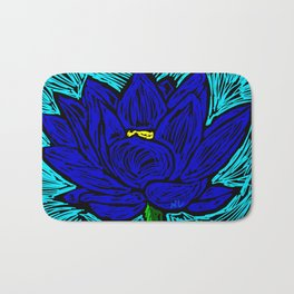 Blue Lotus Bath Mat