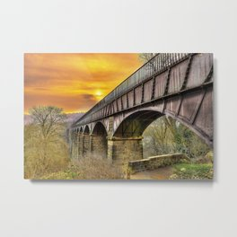 Llangollen Aquaduct Metal Print