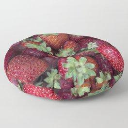 Strawberries Floor Pillow