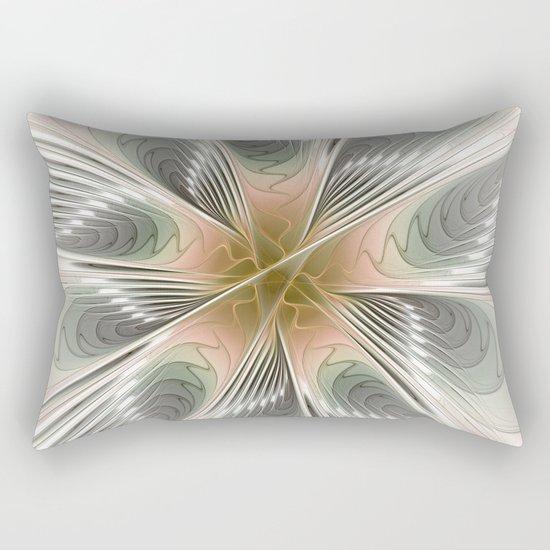 Floral Elegance, Modern Fractal Art Rectangular Pillow