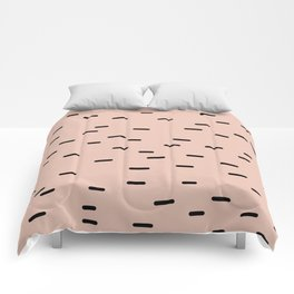 Peach dash abstract stripes pattern Comforters