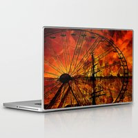 ferris wheel Laptop & iPad Skins featuring Ferris wheel by  Agostino Lo Coco