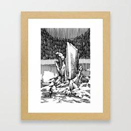 intent in the 1st degree Framed Art Print
