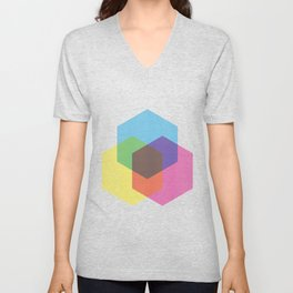 Hexagon Tricolore Unisex V-Neck