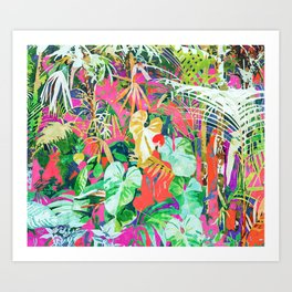 Find Me Where The Tropical Things Are #painting #botanical Art Print
