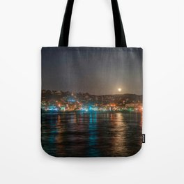 Moon Over Main Beach Tote Bag