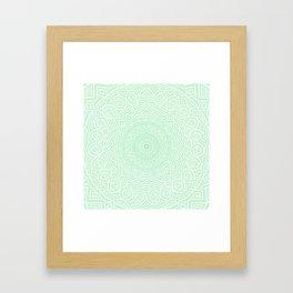 Green Mandala Design Extra Detailed Geometric Ethnic Tribal Pattern Framed Art Print