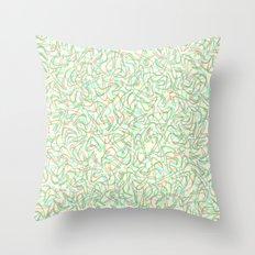 Boomerang Cream Throw Pillow