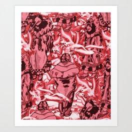 Eskimo Curlew Red Art Print