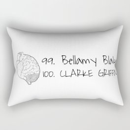 Bellamy and Clarke Heart & Head Rectangular Pillow