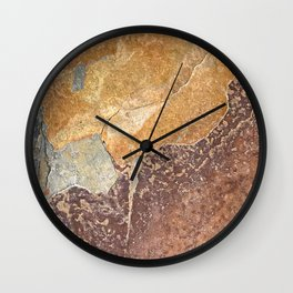 Natural Red Rift Wall Clock