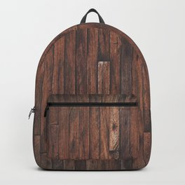 Cherry Stained Wood Barn Board Texture Backpack