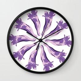 Jacaranda´s Flowers Wall Clock