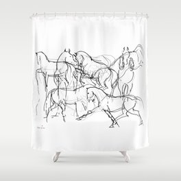 Horses (Movement) Shower Curtain