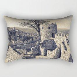 Castelo dos Mouros, Sintra, Portugal Rectangular Pillow