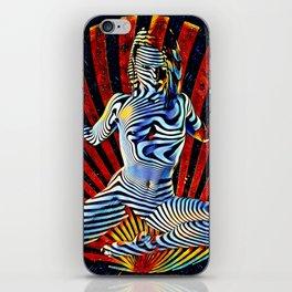 0536s-MM_4531 Cosmic Venus Striped Figure Woman Bringing Life iPhone Skin