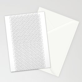3D Line Drawing Cubes - Checkers Stationery Cards